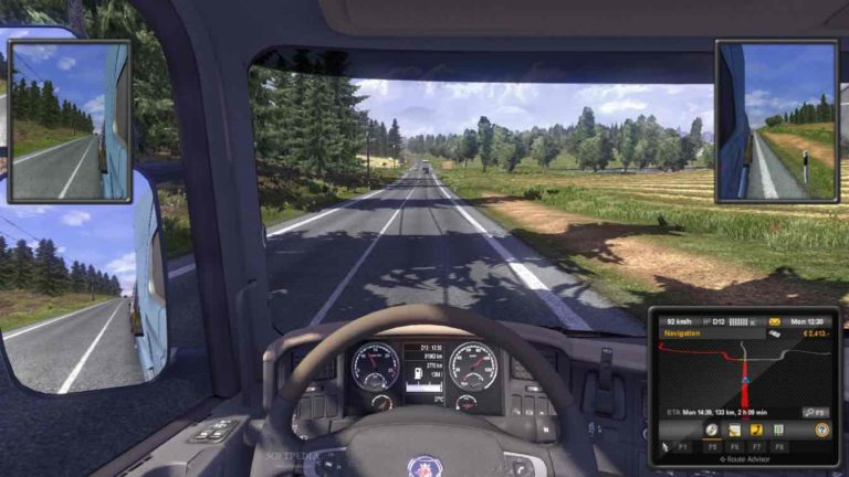 Euro Truck Simulator 2 , An Example Of A Driving Video Game Genre